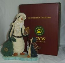 Nick and Flip Giving Boyds Waddletun Penguin 8.5in figurine 1st Ed 4014766