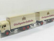 1//87 AWM MB Actros Stuttgarter Hofbräu Koffer-Hängerzug 70227