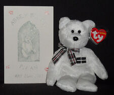 TY ABBY BEARS PIRAN BEANIE BABY with CERTIFICATE #56 - MINT with MINT TAG