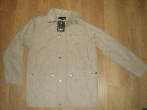 Farah Men's Water Repellent Coat Military Stone Winter Jacket Corduroy Collar S