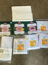 Lot 8 Packages Cross Stitch Waste Fabric Canvas 14 count