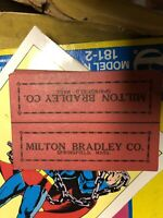 1940s Milton Bradley Marble package Header cards 6 pcs NM Cool old advertising