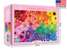 New colorful flowers 1000 PIECE JIGSAW PUZZLES education KID ADULTS PUZZLE TOY