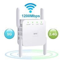 1200Mbps Wireless WiFi Repeater Extender Long Range Signal Amplifier Booster