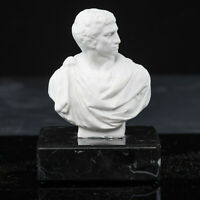 Sculpture of Roman General Marc Antony on a solid marble base. Art, Gift.