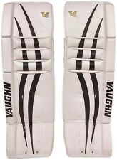 "New Vaughn 1000 Goal Sr ice hockey leg pads 36""+2 Black/White Velocity V6 goalie"