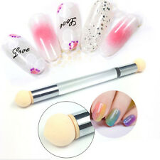 Double-end Nail Art Sponge Brush Stamping Pen Powder Gradient Shading Ombre Tool