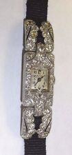 LADIES VINTAGE PATEK PHILIPPE WATCH ART DECO PLATINUM & DIAMONDS