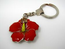 Collectible Keychain: Red Flower Design (One Jewel Missing)