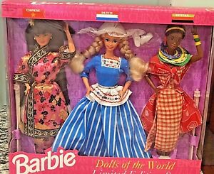 1994 Mattel Barbie Dolls of the World Limited Edition Set #12043 NRFB