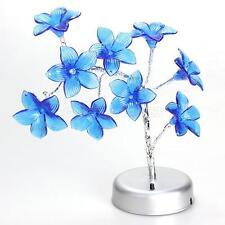 Mini Lily Flower Tree LED Light Lamp for Home Desk Festival Decoration Blue #Cu3