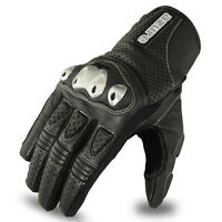 Motocross Gloves Racing Off Road Enduro MotorBike TPU Knuckle Leather 1686 XL
