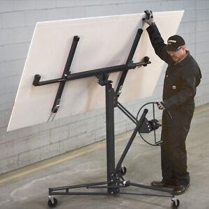 Heavy Duty Sheet Plaster Boards Lifter 11ft Reach Drywall Lift Panel Jack Hoist