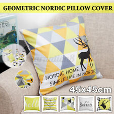 Geometric Modern Nordic Pillow Cover Cushion Decorative for Sofa Chair Bed