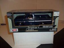 MOTOR MAX AMERICAN CLASSICS 1/24 SCALE 1966 CHEVY C10 FLEETSIDE PICKUP NAVY BLUE