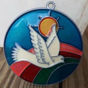 Vintage Suncatcher Flying Dove Bird Window Decoration Ornament