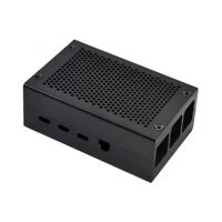 Aliminum Metal Enclosure Protective Box Shell Case Black For Raspberry Pi 4