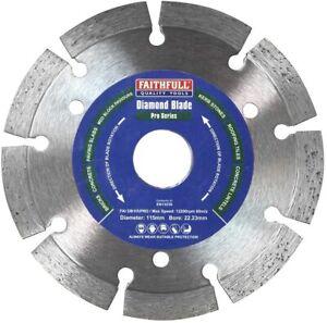 Faithfull Professional Diamond Blade Long Life 115 x 22mm - FAIDB115PRO