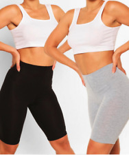 LADIES CYCLING SHORTS FOR CASUAL WEAR & GYM/RUNNING LEGGINGS SIZES 6-18