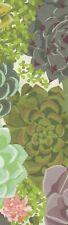 Succulents decorative paper, laminated bookmark