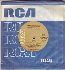 Jefferson Starship Jane Australian 45 record tan RCA label (1979)