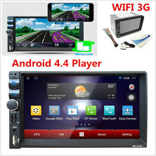 """7"""" 2 DIN Dual Core Android 4.4 MP5 Player 3G WIFI Bluetooth Car Stereo GPS NAV"""
