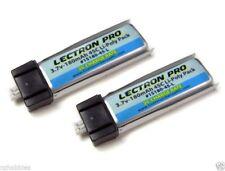 New Lectron Pro 3.7 volt 180mAh 45C Lipo Battery 2-Pack Blade mCX mSR 1S180-45-L