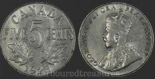 1923 Canada 5-Cents Nickel - Nice Grade