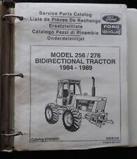 1984-89 FORD MODEL 256 276 BIDIRECTIONAL TRACTOR PARTS CATALOG MANUAL VERY GOOD