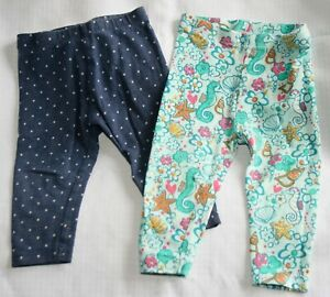 2 x Next girls leggings - age 6 - 9 months