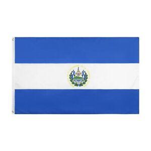 PringCor 3x5FT Flag of El Salvador Bandera Magna Decor Dorm Man Cave Advertising