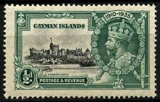 Cayman Islands 1935 SG#108f 1/2d Silver Jubilee MH Decimal Diagonal Line #D31669