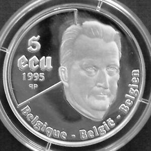 Belgium 5 ecu silver proof 1995 United Nations 50th Anniversary