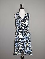 APT. 9 NEW $50 Abstract Floral Multi-Color Ruffle Wrap Dress XS