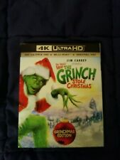 How the Grinch Stole Christmas (4K) includes digital & Blu-Ray; slipcover