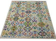 Real Afghan Tribal Multi colour Handmade Reversible Wool Kilim Area Rug106x150cm