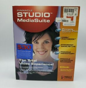 Pinnacle Studio Media Suite Plus Version 9 Video Digital Media Editing Open Box