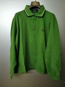 Fred Perry   maglia polo manica lunga Tg. 44 112 men's long sleeve shirt t-shirt