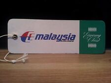 """Malaysian Airline System MAS - Baggage / Name Tag - Gepäck-Anhänger """"ECO"""" - top"""