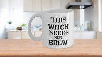 Witch Brew Coffee Mug Halloween Gift-Funny Cup for Coffee Addicts