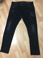 MADE ITALY WORN Mens Diesel THOMMER Stretch Denim 0860H BLACK Slim W36 L32 H6