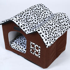 Indoor Pet Dog House Kennel Bed Soft Warm Mat Washable Puppy Cat Cabin Cushion