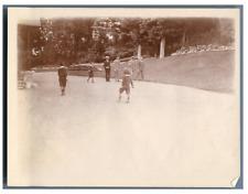 Jeux d'enfants, vers 1900 Vintage citrate print Tirage citrate  9x12