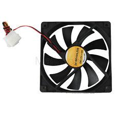 12V 2 Pin 40mm Computer Fall Kühler Cooler Kleine Lüfter PC Schwarz Kühlkörper