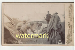 Soldiers at camp, Newcastle on Tyne, c1890s, CDV