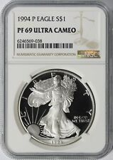 1994-P $1 Proof American Silver Eagle NGC PF69 Ultra Cameo