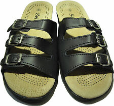 Genuine Leather Healthy Comfort/Comfortable Women's Sandals Shoes (3-Buckle)