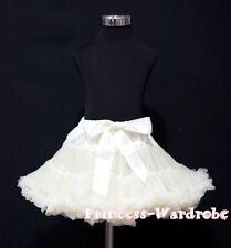 Beige Cream White Tutu Skirt Dance Party Dress Girl Adult Women Lady Pettiskirt