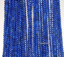 """2MM SAPPHIRE BLUE JADE GEMSTONE DARK BLUE ROUND 2MM LOOSE BEADS 16"""""""