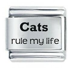 CATS RULE MY LIFE * Daisy Charms Fits Nomination Classic Italian Charm Bracelet
